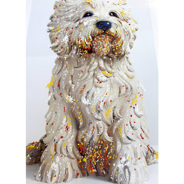 Contemporary Jeff Koons Large Framed Dog Lithograph Signed Dated 1999 59/75 For Sale In Detroit - Image 6 of 10