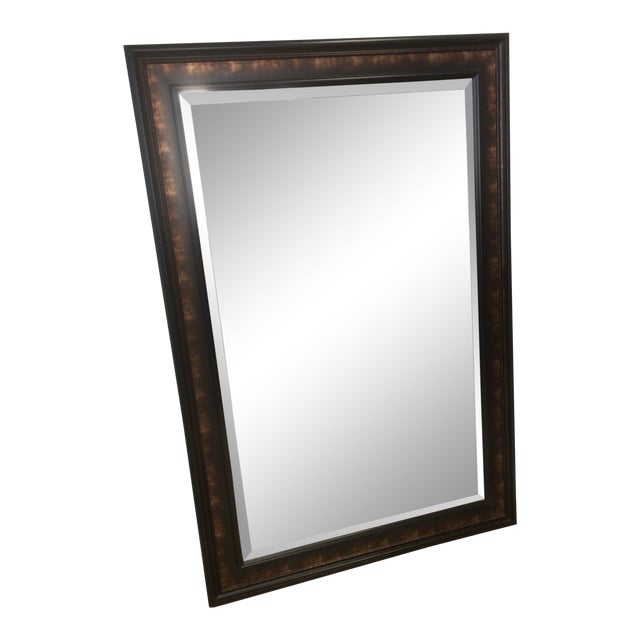 Vintage Beveled Fireplace Mirror For Sale