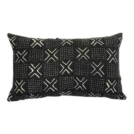 "Mudcloth Pillow Cover - 16"" x 26"" For Sale"