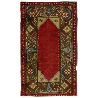 "20th Century Turkish Oushak Accent Rug - 2'11"" X 4'9"" For Sale"