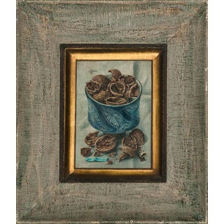 """Walnut Shells Trompe l'Oeil Acrylic by Aaron Bohrod"""