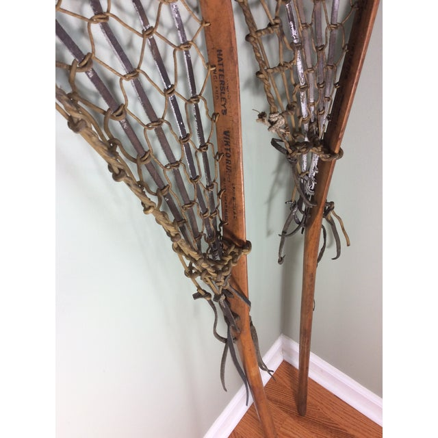One Vintage Wood and Leather Lacrosse Stick - *** Only One Left**** For Sale - Image 4 of 7