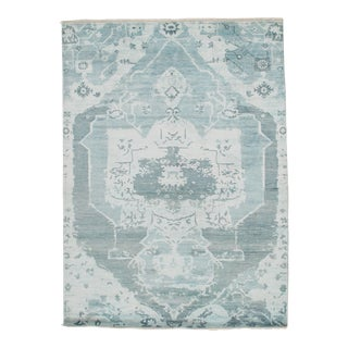 Pasargad N Y Modern Pure Bamboo Silk Hand Knotted Area Rug - 5′8″ × 7′8″ For Sale