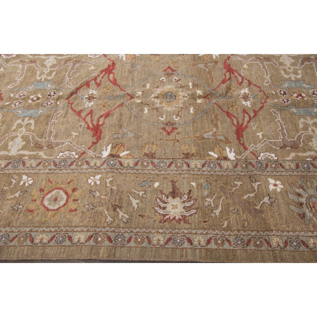 "Persian Sultanabad Rug - 6'4"" x 16'5"" - Image 6 of 10"