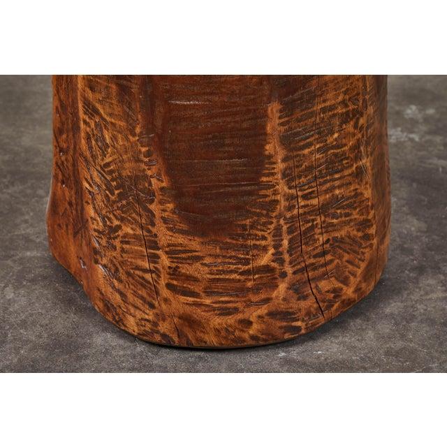 Wood Vintage Granary Mortar Indonesian Teak Stool For Sale - Image 7 of 8
