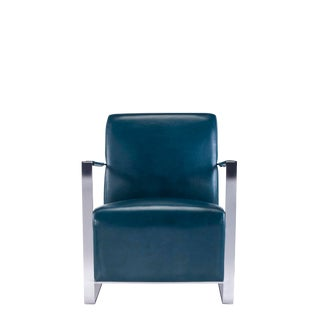 Pasargad Luxe Collection Faux Leather Armchair For Sale