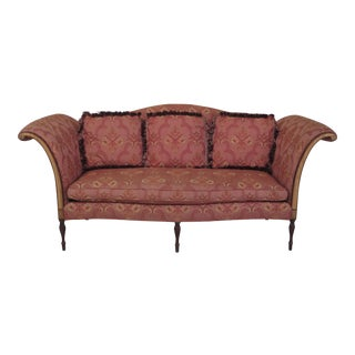 Southwood Sheraton Inlaid Mahogany Sofa For Sale