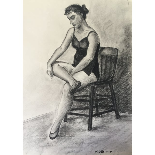 1940s 1949 Drawing Ballerina by Costello For Sale - Image 5 of 5
