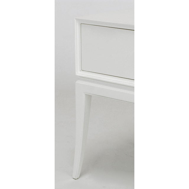 Tommi Parzinger White Lacquered Nightstand For Sale - Image 9 of 10