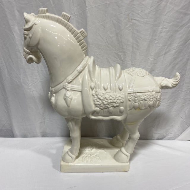 1960s Large Vintage Ceramic Tang Dynasty Horse For Sale - Image 5 of 12