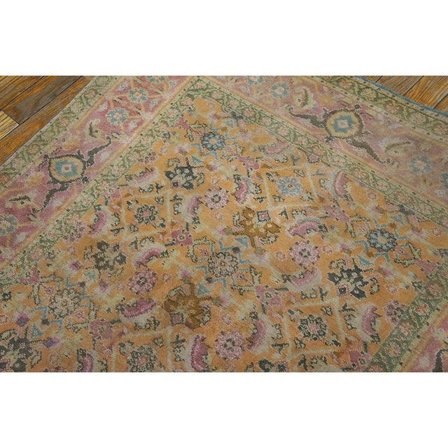 1920s Vintage Cotton Agra Rug - 3'x6' For Sale In New York - Image 6 of 7