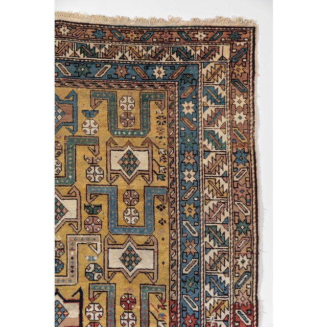Late 19th Century Shirvan 19th Century Caucasian Rug - 3′10″ × 4′10″ For Sale - Image 5 of 9