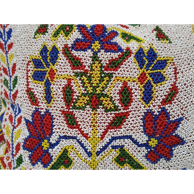 Boho Chic Hand Beaded Rajasthani Pillow For Sale - Image 3 of 6