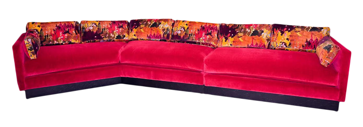 Mid Century Modern Milo Baughman Style Sectional Sofa Chairish