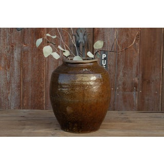 Antique Golden Brown Burmese Martaban Jar Preview