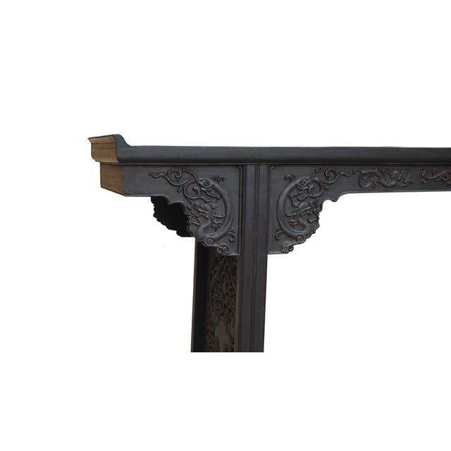 Rosewood Dragon Carving Altar Console For Sale In San Francisco - Image 6 of 8