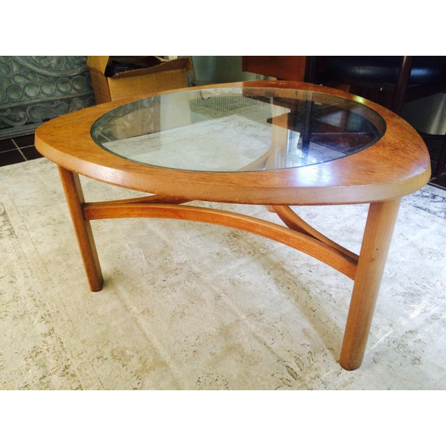MidCentury Atomic Triangular Coffee Table Chairish - Mid century triangle coffee table