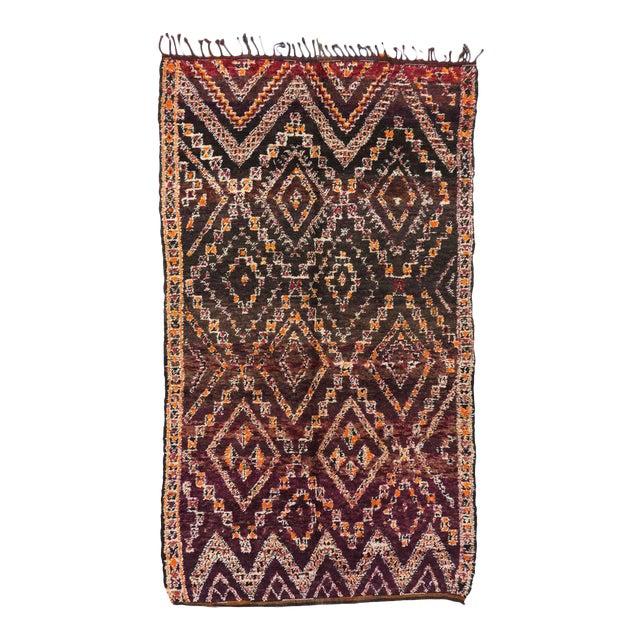 Vintage Beni M'Guild Moroccan Rug - 06'07 X 11'07 For Sale