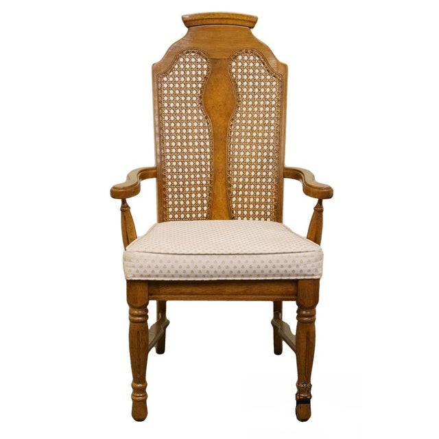 Late 20th Century Vintage Henry Link Dixie Contemporary Style Cane Back Dining Chair For Sale - Image 9 of 9