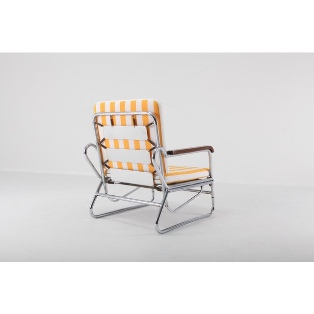 Tubular Chrome Lounge Chair For Sale - Image 4 of 11