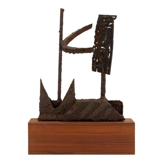 Mounted Brutalist Figurine For Sale