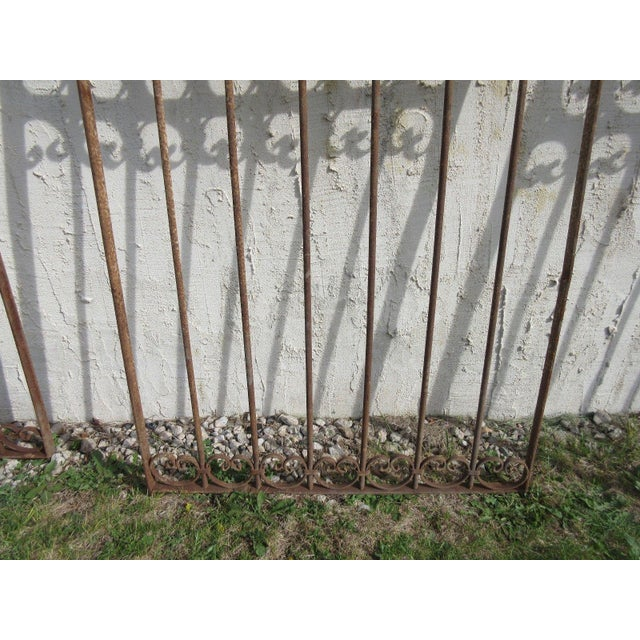 Antique Victorian Iron Gate or Garden Fence For Sale - Image 5 of 7