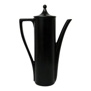 Black Porcelain Teapot