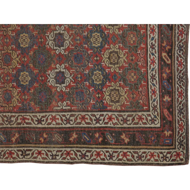 """Antique Persian Distressed Rug - 3'10"""" X 6'6"""" - Image 4 of 4"""
