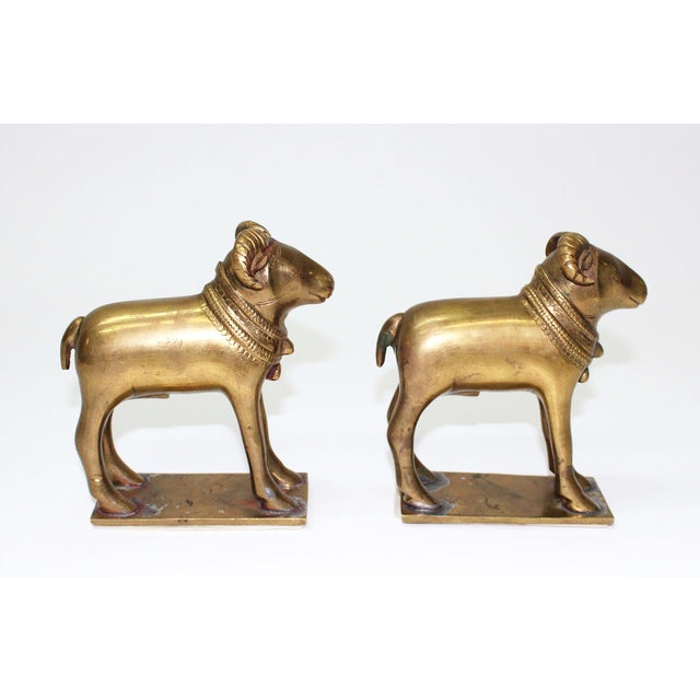 Early 20th century Ram Bookends. Would add a beautiful touch in any home!