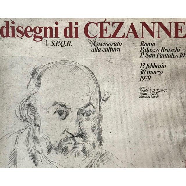 Paper 1979 Original Italian Cézanne Exhibition Poster, Palazzo Braschi, Rome For Sale - Image 7 of 8