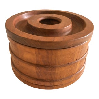 Mid-Century Danish Teak Ihq Dansk Ice Bucket For Sale