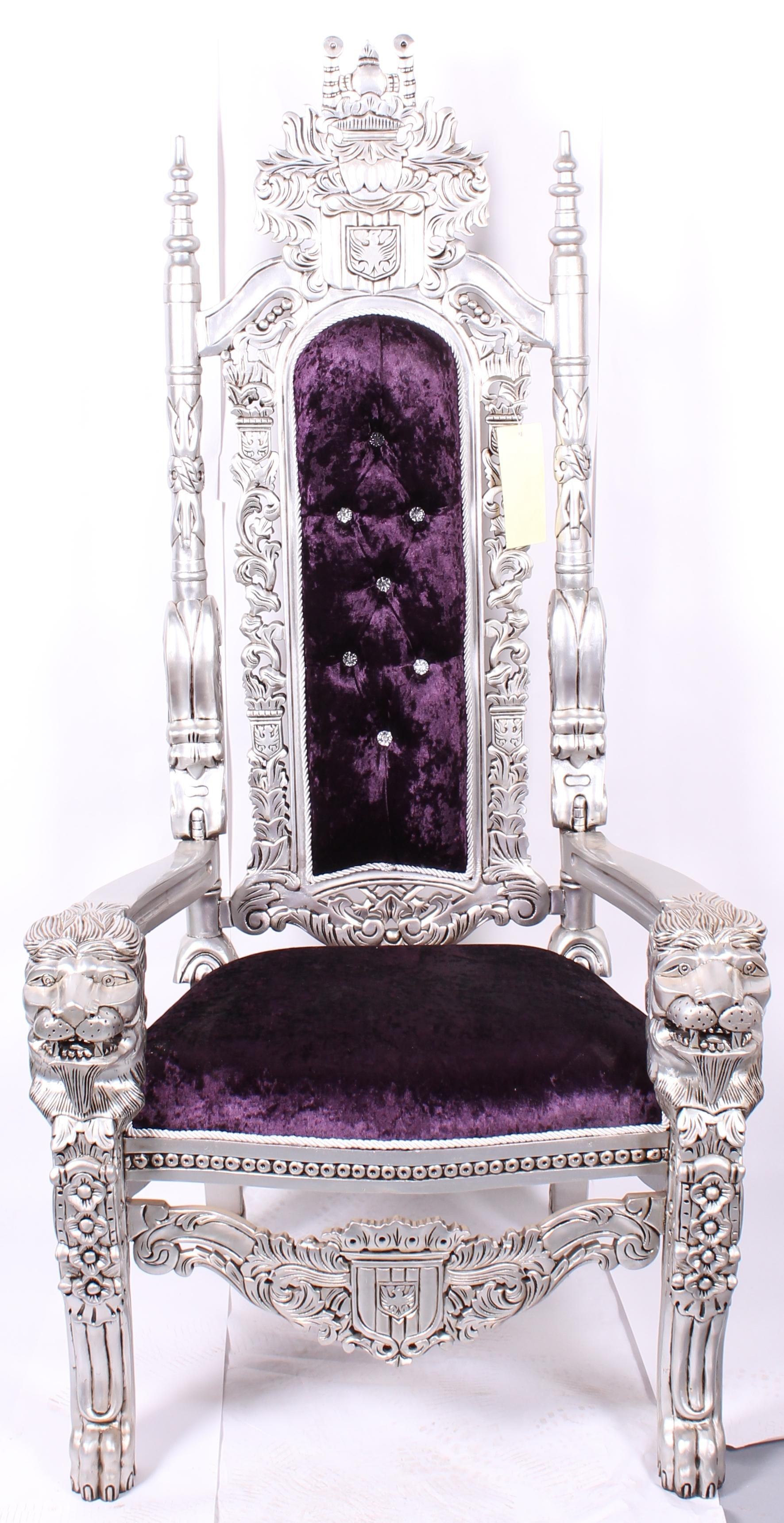 Hollywood Regency Lion King Chair For Sale - Image 3 of 3  sc 1 st  Chairish & Lion King Chair | Chairish