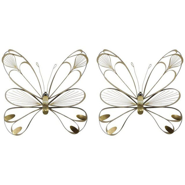 1970s Pair of Butterfly Sculptures by Curtis Jere For Sale - Image 5 of 5
