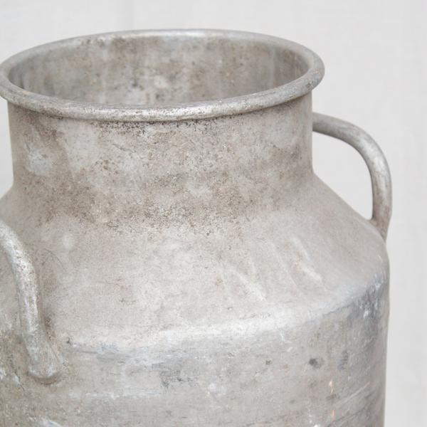 Vintage French Metal Milk Jug For Sale - Image 4 of 6