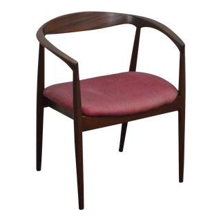 Danish Modern Vintage Curved Back Arm Chair by Raymor For Sale