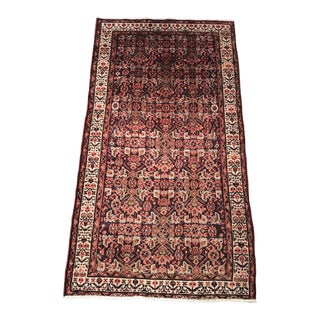 "Vintage Persian Malayer Small Area Rug - 3'10"" x 7'9"" For Sale"