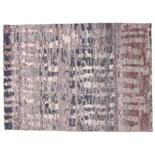 Modern Moroccan Style Rug With Lavender Abstract Design - 10' X 13'10 For Sale