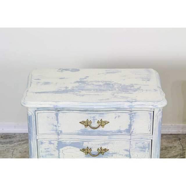 French Provincial French Provincial Mid Century Cream Nightstands - a Pair For Sale - Image 3 of 6