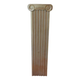 Large Doric Guilded Wooden Column For Sale