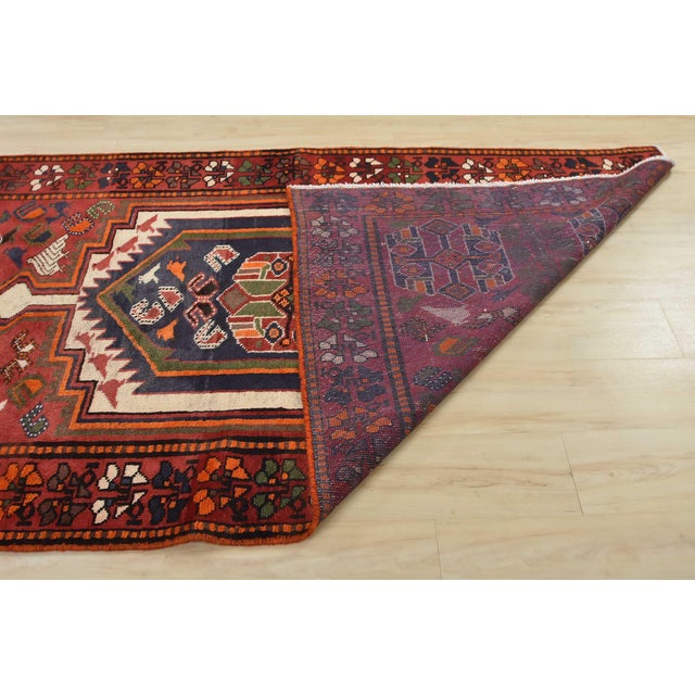 Vintage Persian Luri Rug- 4′1″ × 7′5″ For Sale - Image 11 of 13