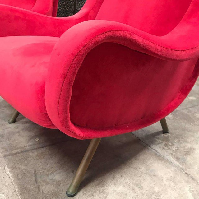 Marco Zanuso 1960s Pair of Marco Zanuso Senior Armchairs for Arflex For Sale - Image 4 of 9