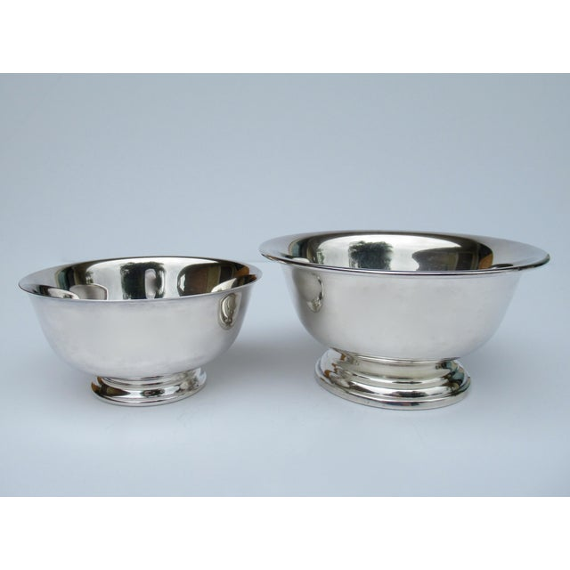Vintage Silver Plate Reed & Barton and Poole Silversmith Paul Revere Side Dish, Serving Bowls -Set of 2 For Sale - Image 12 of 12