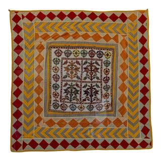 Vintage Gujarat Saurashta Ethnic Beaded Textile India Framed For Sale