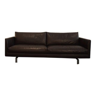 Modern Montis Axel 3.5 Seat Leather Sofa For Sale