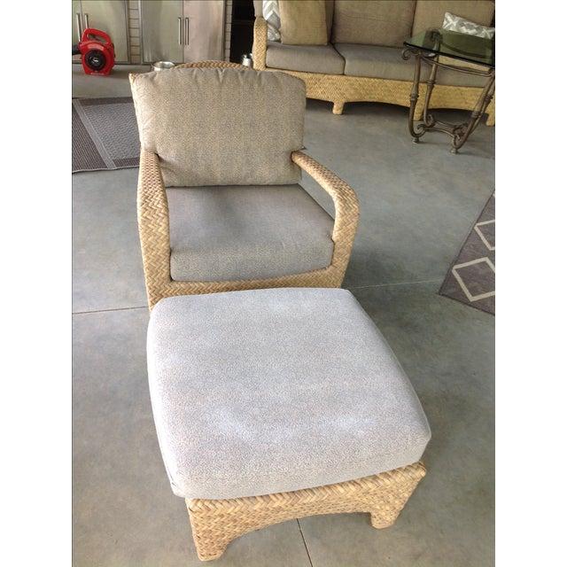 Brown Jordan Havana Outdoor Lounge Chair & Ottoman For Sale - Image 9 of 10