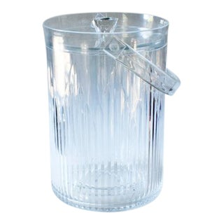 Lucite Faceted Ice Bucket