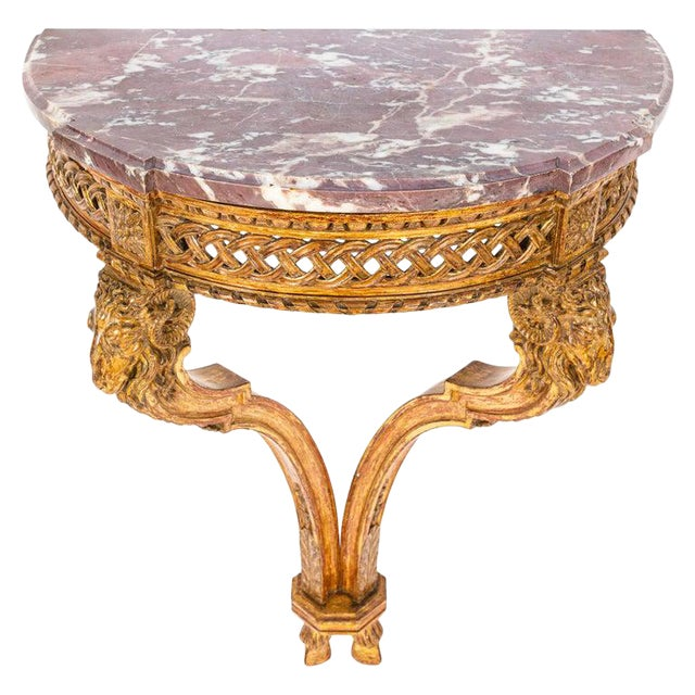 19th Century French Giltwood Wall Mounted Console For Sale