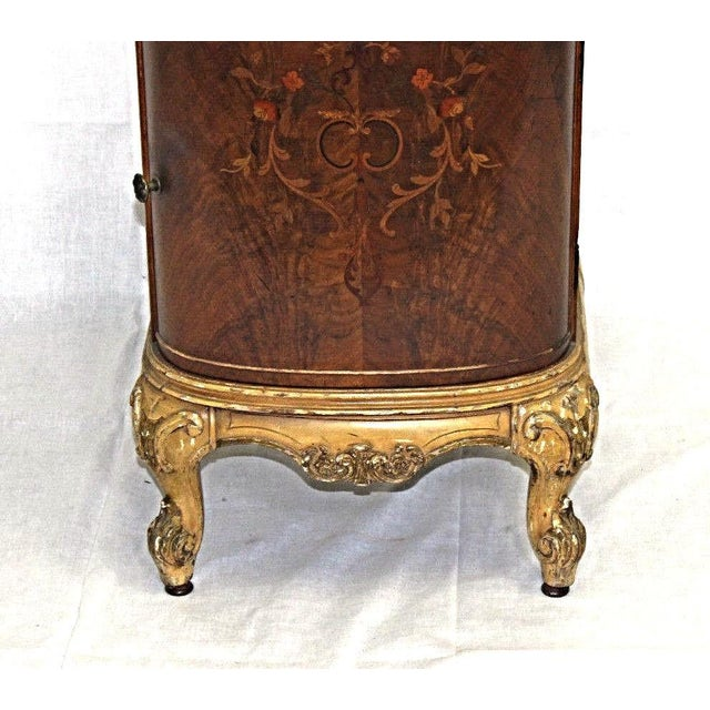 Antique Louis XV Marquetry Inlaid Commode Nightstand For Sale - Image 5 of 8