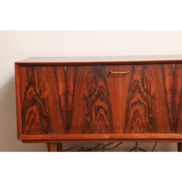 Italian Mid Century Wood Bar/Media Cabinet For Sale - Image 4 of 11
