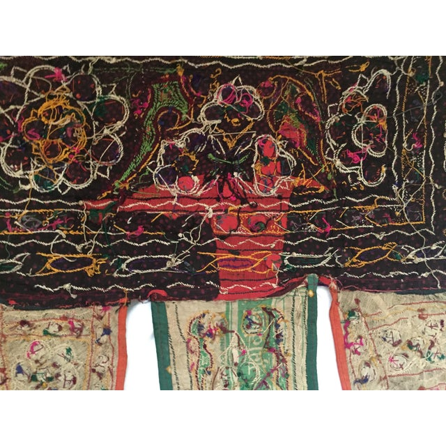 Indian Embroidered Mirror Valance For Sale - Image 9 of 9